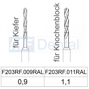 Spiralbohrer / Schrauben für Knochenblöcke, (2 St.)