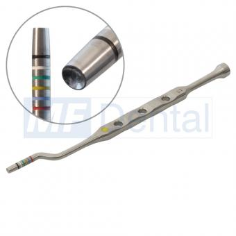 Osteotom konkav, bajonett (Waveline) 3,7 - 4,2 mm